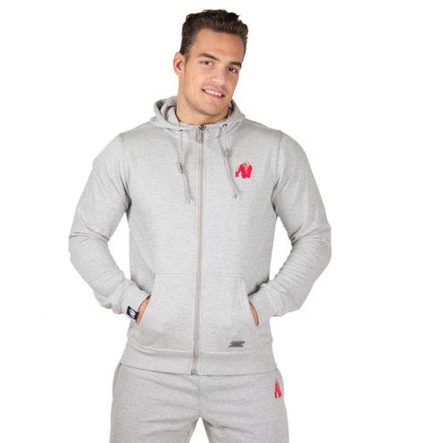 Bodybuilding Vest Grijs - Gorilla Wear Classic Zipped Hoodie-1