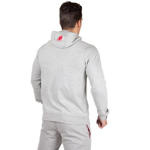 Bodybuilding Vest Grijs - Gorilla Wear Classic Zipped Hoodie-2