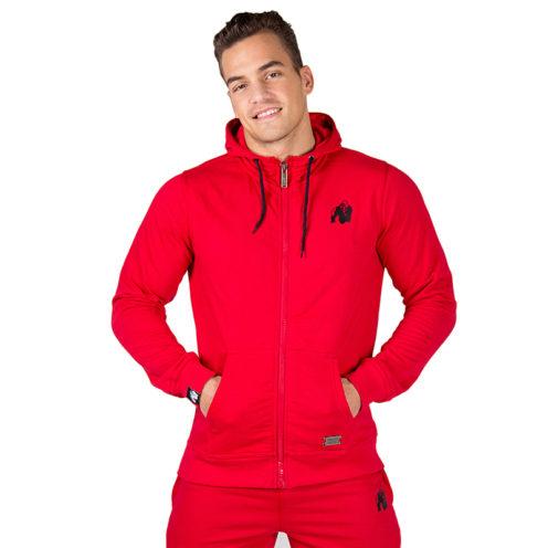 Bodybuilding Vest Rood - Gorilla Wear Classic Zipped Hoodie-1