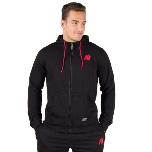 Bodybuilding Vest Zwart - Gorilla Wear Classic Zipped Hoodie-1
