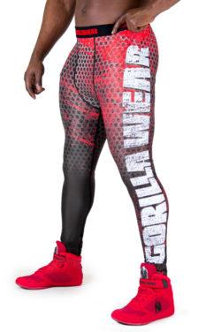 Fitness Legging Zwart Rood - Gorilla Wear Bruce-1