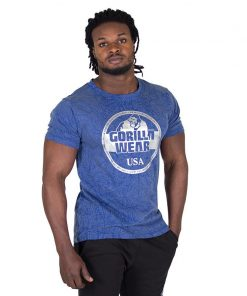 Fitness Shirt Blauw - Gorilla Wear Rocklin-1