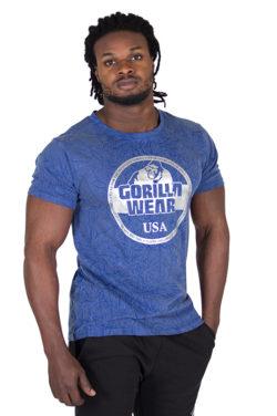 Fitness Shirt Blauw - Gorilla Wear Rocklin-1
