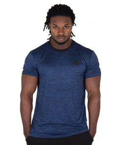Fitness Shirt Blauw - Gorilla Wear Roy-1