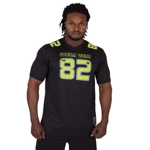 Fitness Shirt Zwart Groen - Gorilla Wear Fresno-1