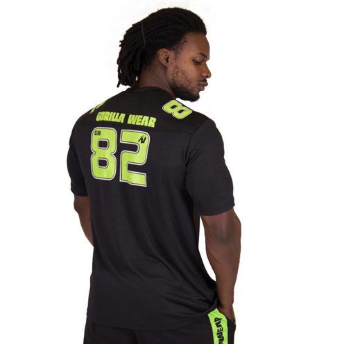 Fitness Shirt Zwart Groen - Gorilla Wear Fresno-2