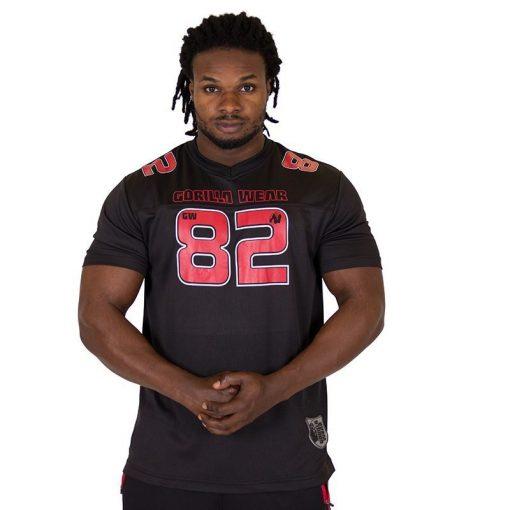 Fitness Shirt Zwart Rood - Gorilla Wear Fresno-1