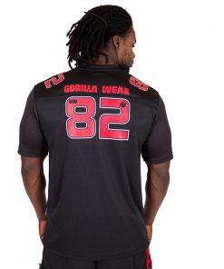 Fitness Shirt Zwart Rood - Gorilla Wear Fresno-2