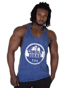 Fitness Tank Top Blauw - Gorilla Wear Mill Valley-1