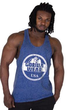Fitness Tank Top Blauw - Gorilla Wear Mill Valley-1
