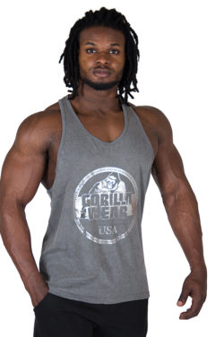 Fitness Tank Top Grijs - Gorilla Wear Mill Valley-1