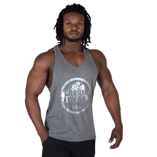 Fitness Tank Top Grijs - Gorilla Wear Mill Valley-1