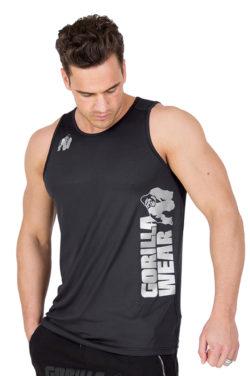 Fitness Tank Top Zwart - Gorilla Wear Rockford-1