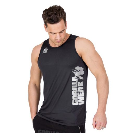 Fitness Tank Top Zwart - Gorilla Wear Rockford-1