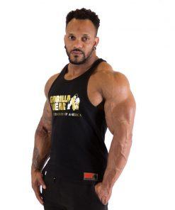 Fitness Tank Top Zwart Goud - Gorilla Wear Classic-1