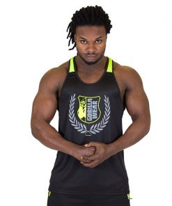 Fitness Tank Top Zwart Groen - Gorilla Wear Lexington-1