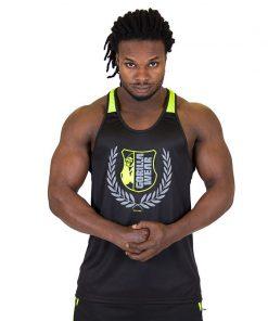 Fitness Tank Top Zwart Groen - Gorilla Wear Lexington-1