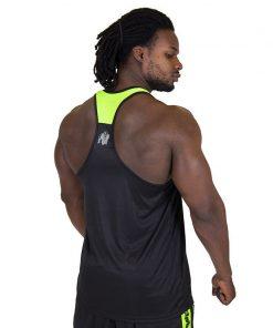 Fitness Tank Top Zwart Groen - Gorilla Wear Lexington-2
