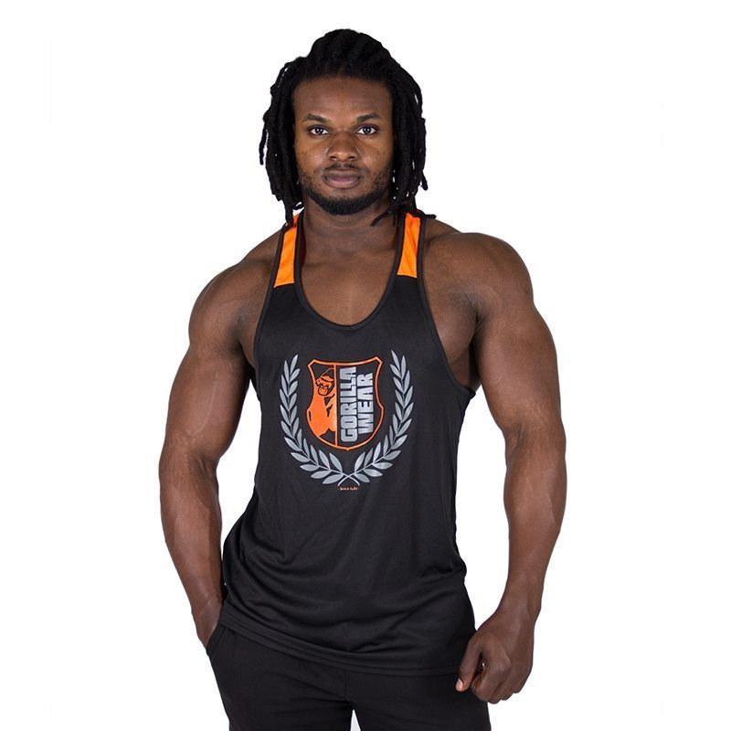 Gym Bag Gorilla Wear: Fitness Tank Top Zwart Oranje