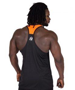 Fitness Tank Top Zwart Oranje - Gorilla Wear Lexington-2