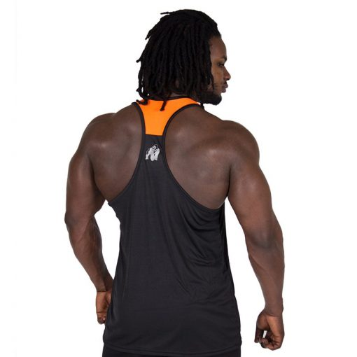 Fitness Tank Top Zwart Oranje - Gorilla Wear Lexington-2