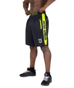 Gorilla Wear Shelby Shorts - Black:Neon Lime-1