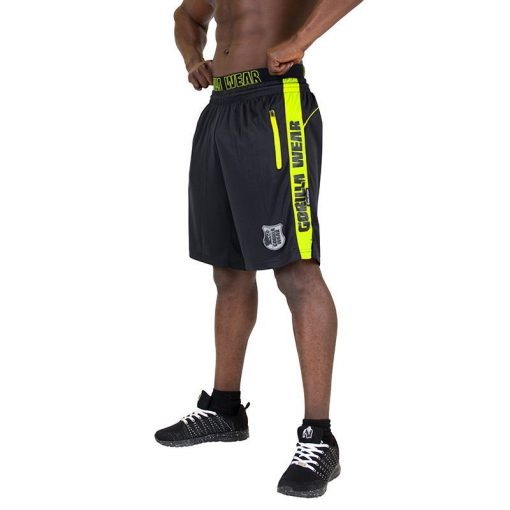 Gorilla Wear Shelby Shorts - Black:Neon Lime-1