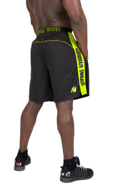 Gorilla Wear Shelby Shorts - Black:Neon Lime-2