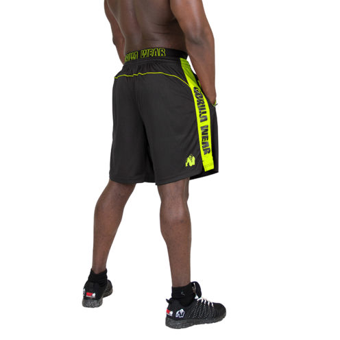 Gorilla Wear Shelby Shorts - Black:Neon Lime-2