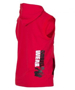 Sleeveless Fitness Shirt met Hoodie Rood - Gorilla Wear Melbourne-2