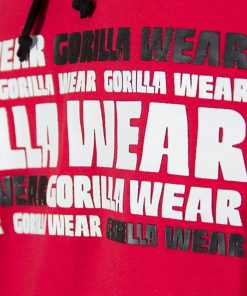 Sleeveless Fitness Shirt met Hoodie Rood - Gorilla Wear Melbourne-3