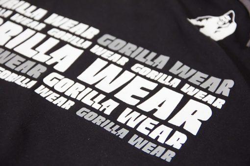 Sleeveless Fitness Shirt met Hoodie Zwart - Gorilla Wear Melbourne-3