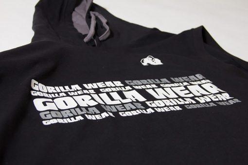 Sleeveless Fitness Shirt met Hoodie Zwart - Gorilla Wear Melbourne-5