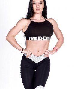 Sporttop zwart Nebbia 285 voorkant