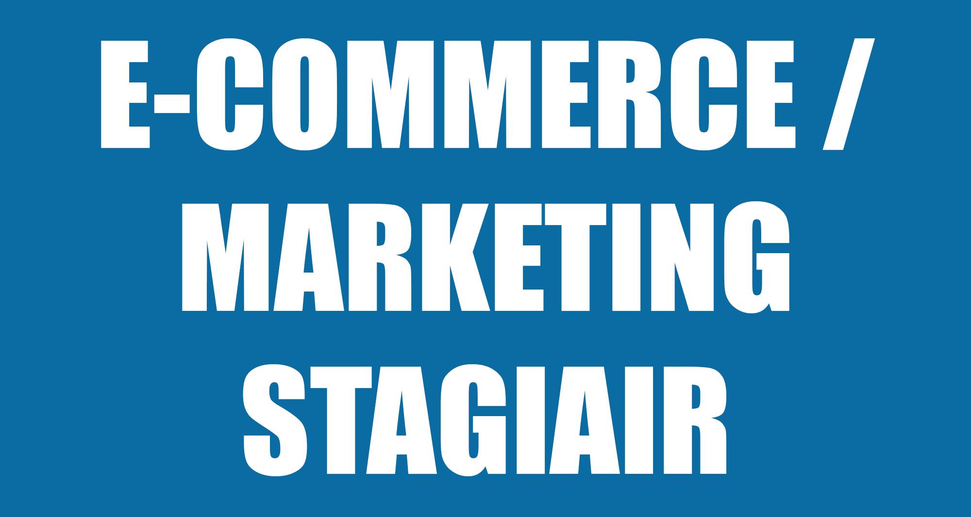 E-commerce - Marketing stagiair gezocht