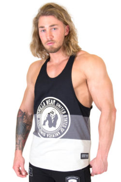 Stringer Tank Top Zwart Grijs - Gorilla Wear Nevada-1