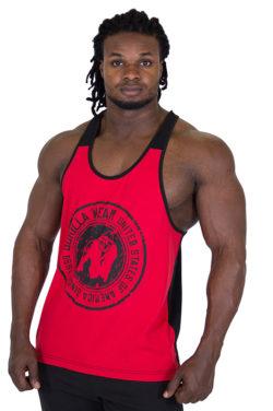 Tank Top Rood Zwart - Gorilla Wear Roswell-1