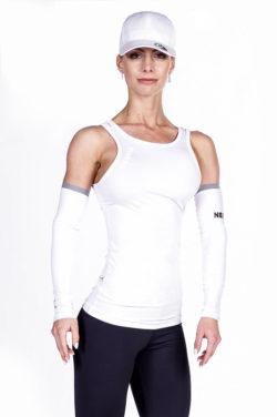 Fitness singlet wit Nebbia 268 voorkant