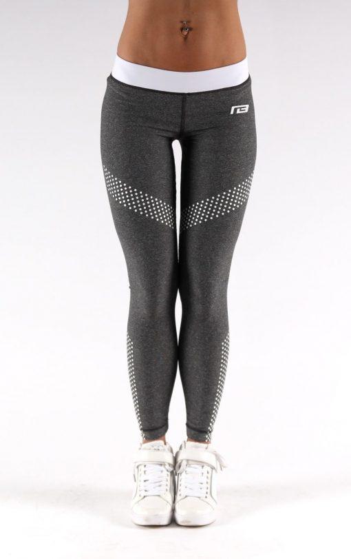 Sportlegging Dots Grijs - Muscle Brand-3