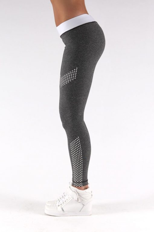 Sportlegging Dots Grijs - Muscle Brand-4