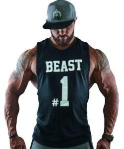 Tanktop Beast #1 Zwart - Muscle Brand-1