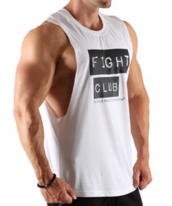 Tanktop Fight Club Wit - Muscle Brand-2