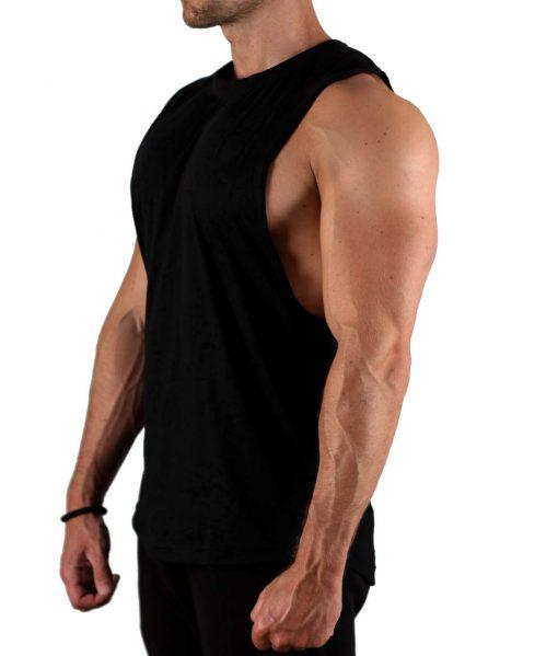 Tanktop Worn-Out Zwart - Muscle Brand-2