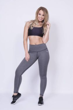 High Waist Sportlegging Grijs - Mfit-2