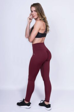 High Waist Sportlegging Rood - Mfit-3