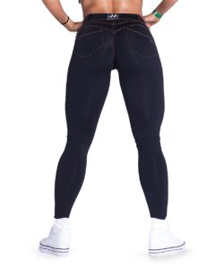push-up broek zwart nebbia bubble butt pants revolution zwart achterkant 1