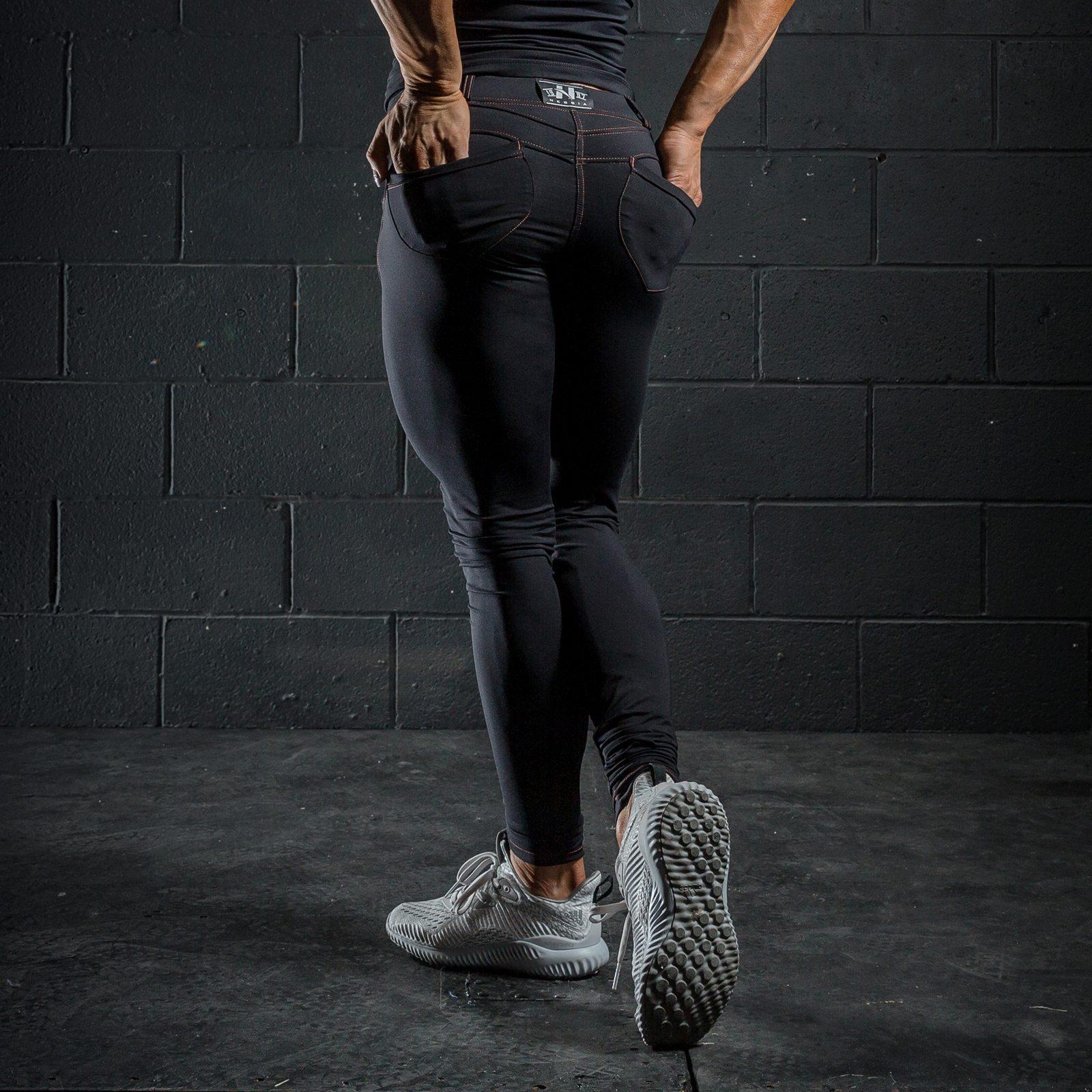 push-up broek zwart nebbia bubble butt pants revolution zwart achterkant