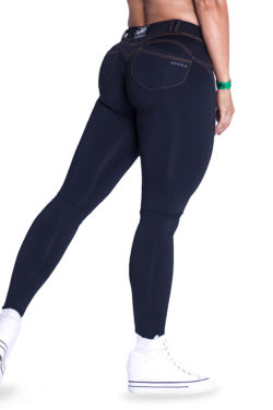 push-up broek zwart nebbia bubble butt pants revolution zwart zijkant