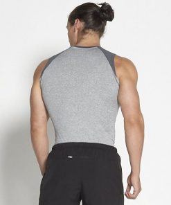 Compressie Tank Top grijs - Pursue Fitness achterkant