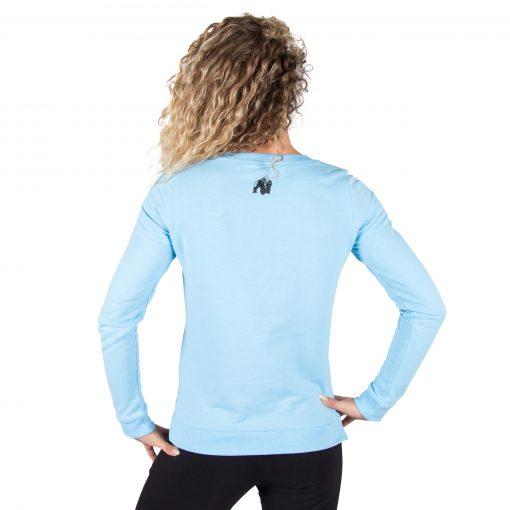 Fitness Sweatshirt Riviera Blauw - Gorilla Wear achterkant